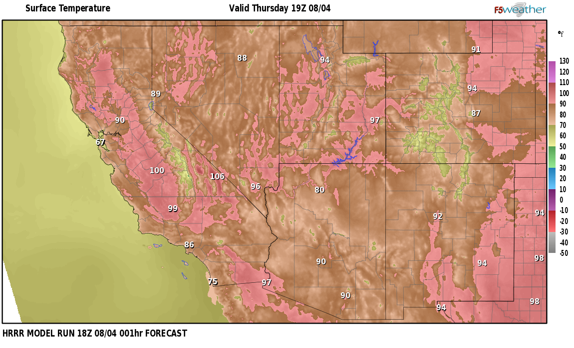 Temperatures right now near Jessup, Nevada