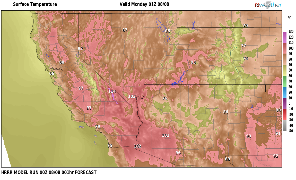 Temperatures right now near Davis Station, Nevada