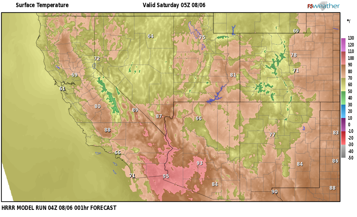 Temperatures right now near Sierra de los Pinos, New Mexico