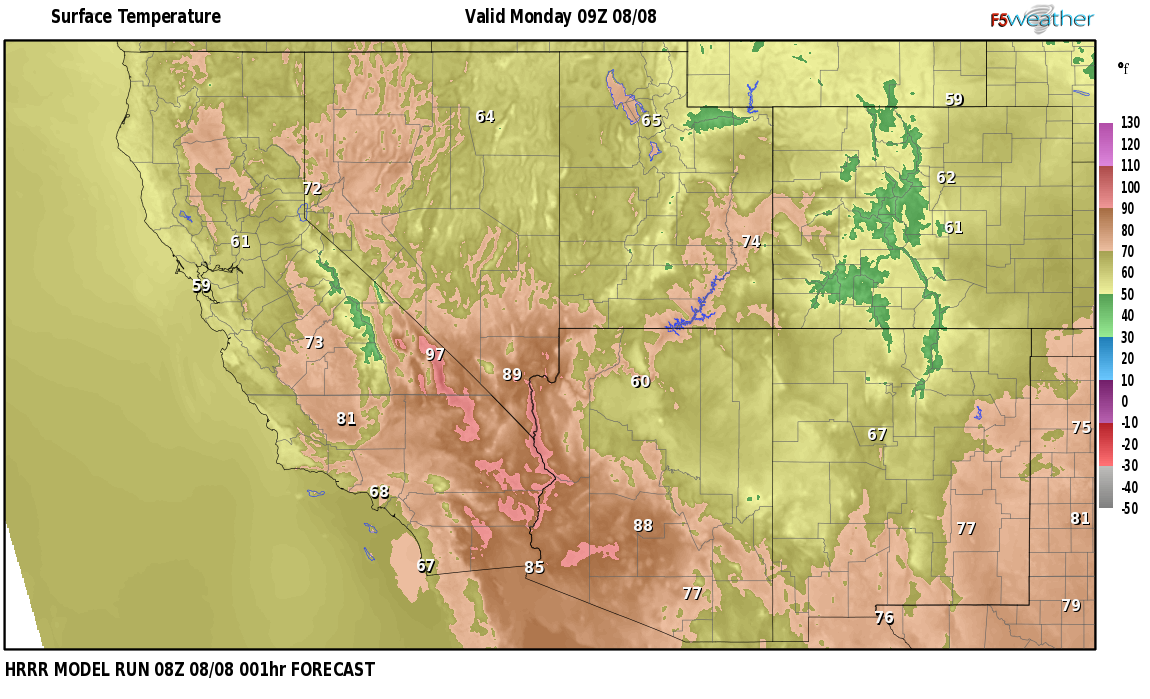 Temperatures right now near Jemez Pueblo, New Mexico