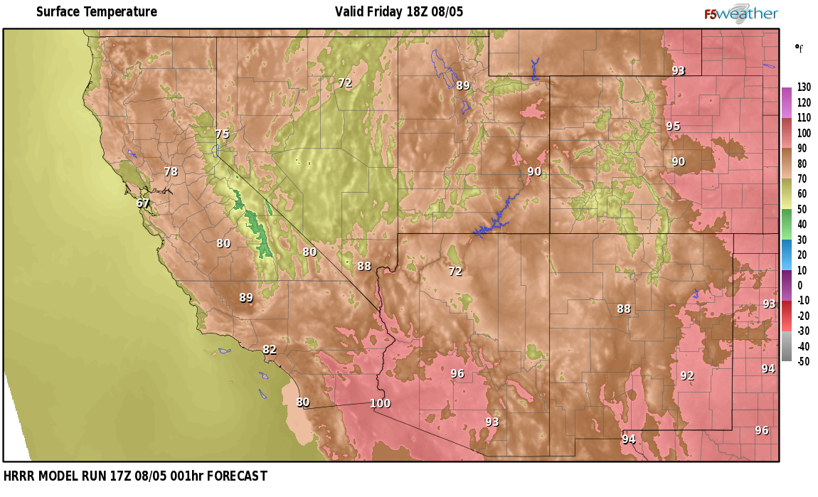 Temperatures right now near Barth, Nevada