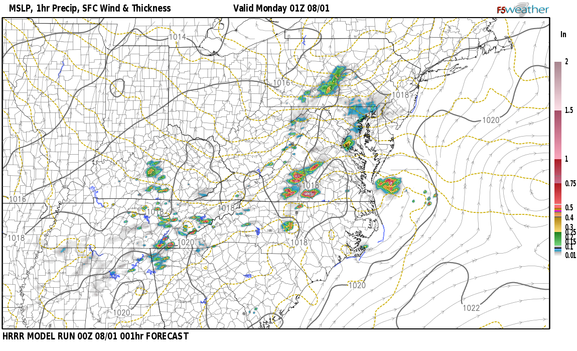 Current surface weather map around Logan County, KY