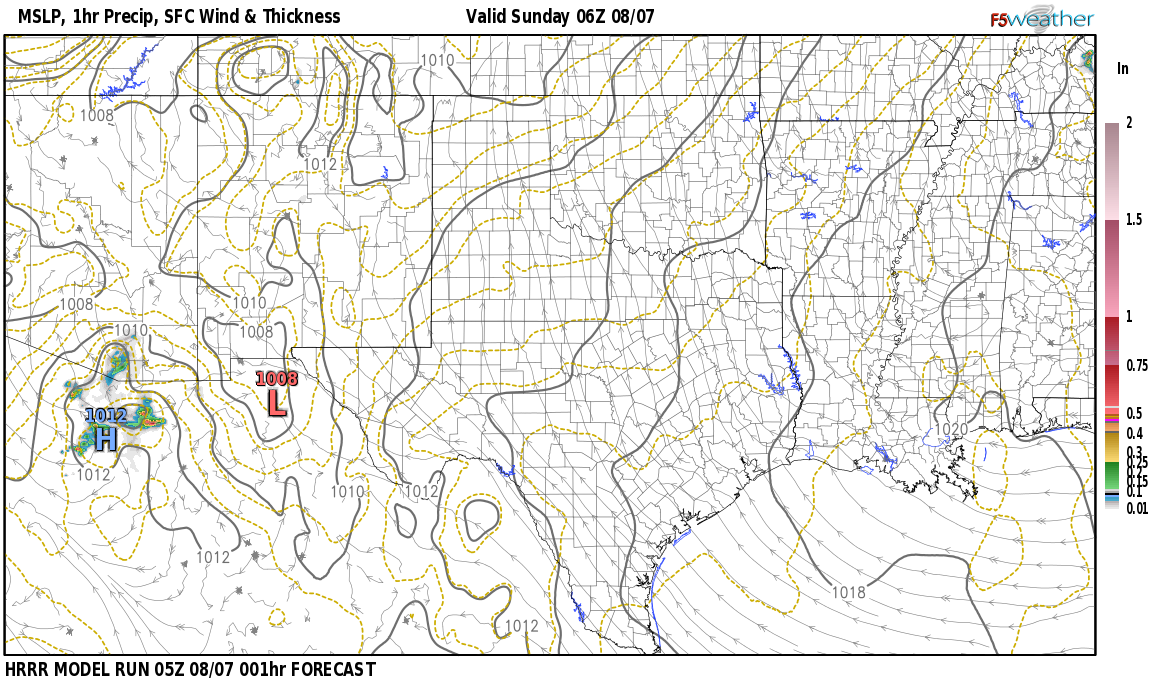 Current surface weather map around Rio Arriba County, NM