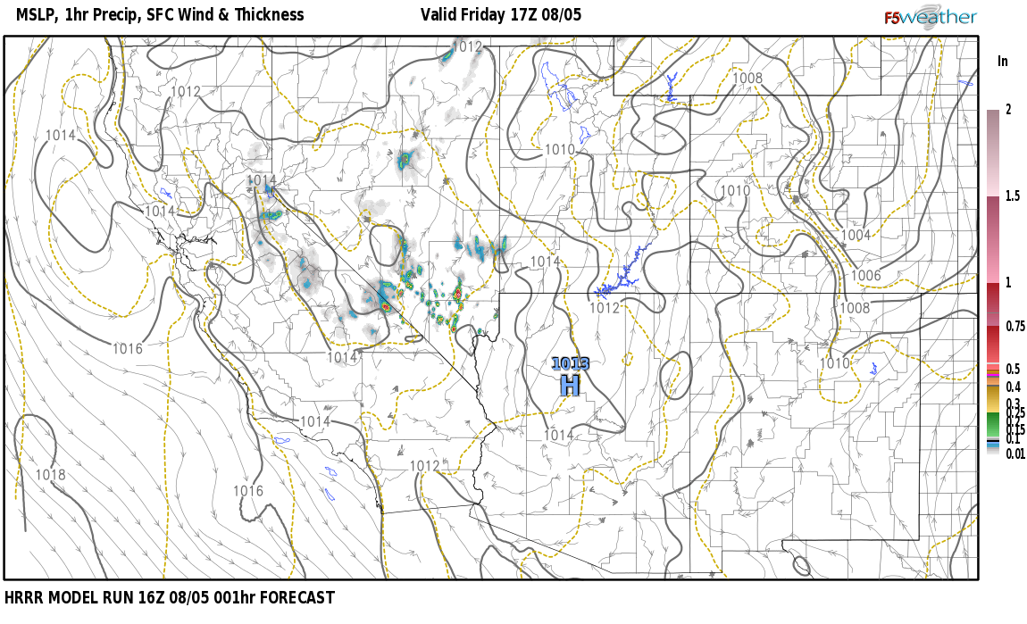 Current surface weather map around Mineral County, NV