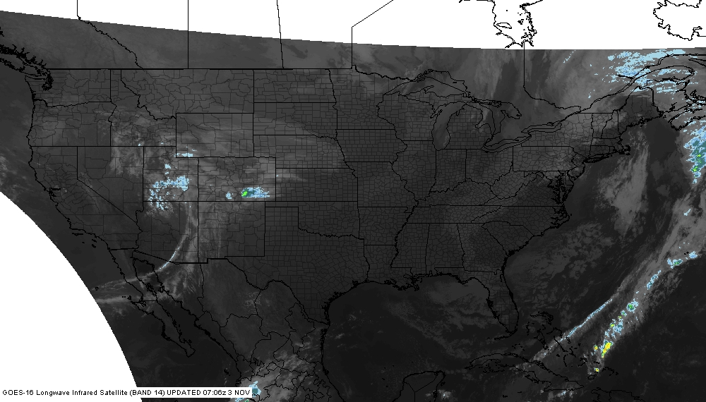 National Infrared Satellite Image
